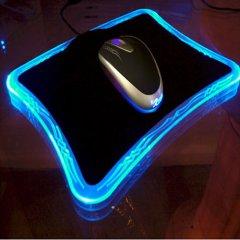 Профессиональный геймерский коврик xRaider  с синей подсветкой