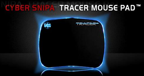 Профессиональный геймерский коврик Cybersnipa Tracer с синей подсветкой