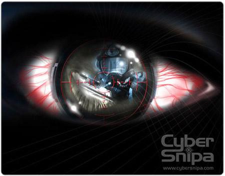 Профессиональный геймерский коврик Cybersnipa Pro Gamer  дизайн  глаз