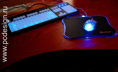Прозрачная мышь с ярким синим светодиодом LUMINOUS MOUSE