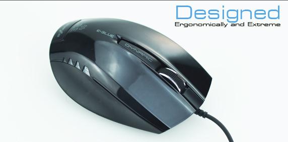 Мышь оптическая E Blue Dynamic EMS102BK черная