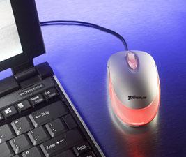 Мышь   Калейдоскоп   с втягивающимся кабелем  с разноцветной подсветкой