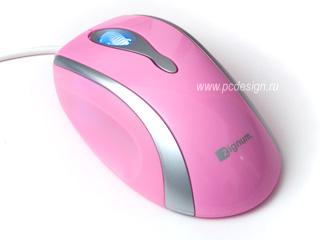 Гламурная мышь розовая ZIGNUM 525  светящ  колесо  оптическая  800 dpi   USB