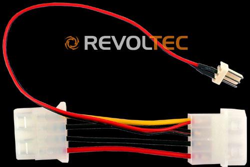 Переходник Revoltec 3 4pin adapter  длина провода 180 мм