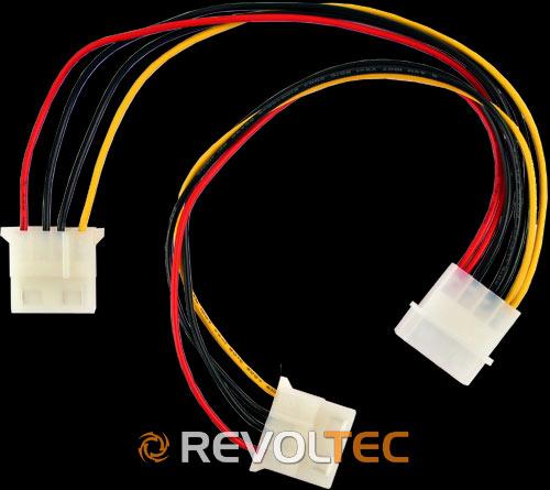 Разветвитель питания Revoltec 4 Pin Y cable