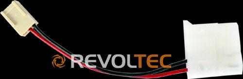 Переходник Revoltec с 4pin на 3pin  длина провода 105 мм