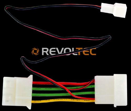 Переходник Revoltec 3pin на 4pin понижающий 12 В до 7 В  длина провода 335 мм