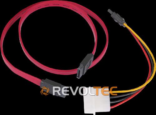 Набор  Revoltec  кабель SATA 60см и кабель переходник на 4 Pin Molex 16см