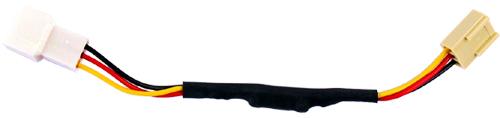 Переходник Revoltec 3pin 3pin понижающий 12 В до 9 5 В  длина 130 мм