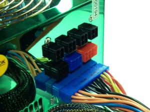 Модульный блок питания зеркальный  зеленый   мощность  430 W