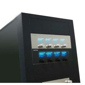 Панель с дисплеем и реобасом на 4 канала Kaze Master KM01 BK 5 25   черная