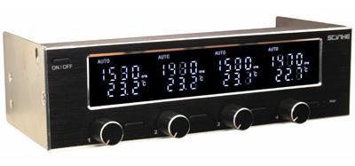 Реобас с дисплеем и термометром Scythe Kaze Server 5 25 черный KS01 BK