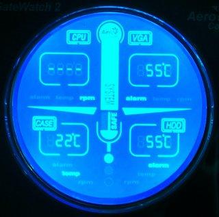 Многофункциональная панель  Aerocool  GateWatch 2  серебристая для 5 25   отсека