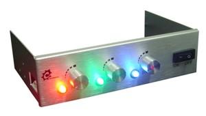 Панель Chameleon для отсека 5     серебристая  и 4 ре RGB прожектора