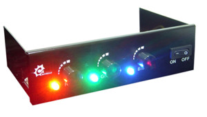 Панель Chameleon для отсека 5    черная  и 4 ре RGB прожектора
