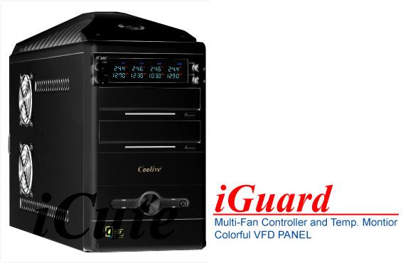 Панель iCute iGuard 5 25  черная  4 канал реобас  t контроль  VFD