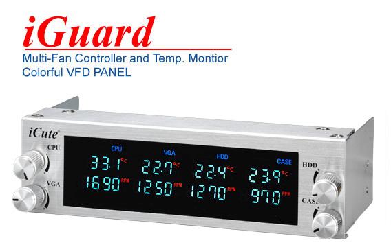 Панель iCute iGuard 5 25  серебрист   4 канал реобас  t контроль  VFD