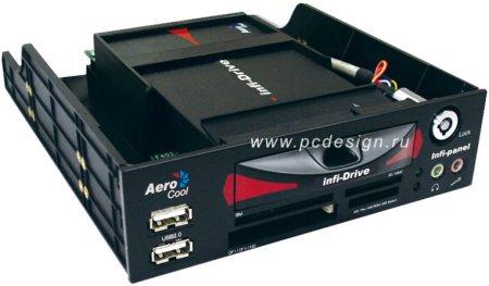 Моддерский Mobile rack Aerocool Infinite  черный  с картридером