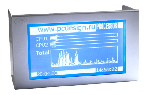 LCD дисплей Alphacool LC Display 240x128 Pixel  для 2 х 5 25    отсеков серебр