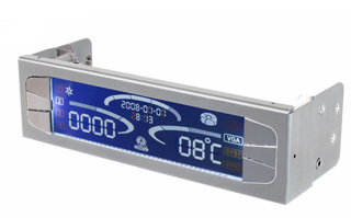 Панель Lian Li 5 25 Fan Control   Thermometer серебристая TR 5A