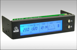 Панель LIAN LI   3 5  LCD THERMOMETER и авто темп  регулир  вент   черная
