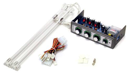 Панель управления вентиляторами и подсветкой  для отсека 5    с 2 синими лампами