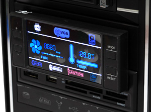 Многофункц  панель и кардридер All in 1 5 25 Vantec UGT MP100 BK  LCD  черн