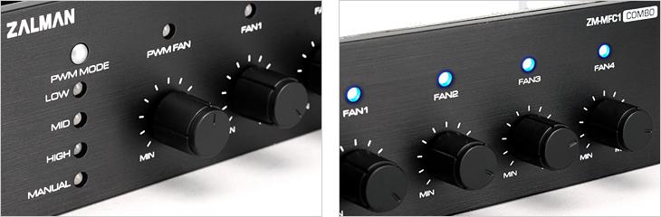 Реобас Zalman ZM MFC1 Combo 4 канала и 1 PWM для контроля вентиляторов