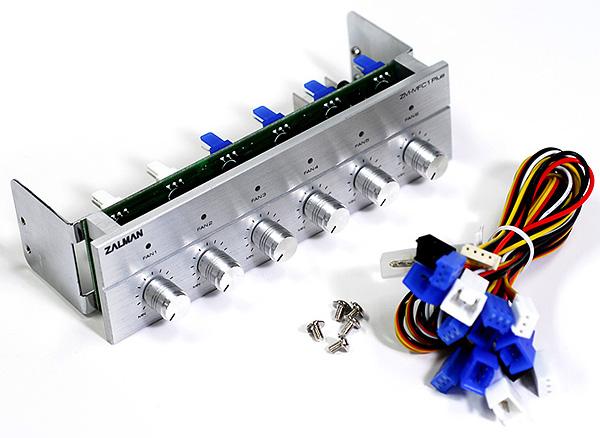 Реобас Zalman ZM MFC1 Plus 6 тиканальный для 5   отсека серебристый