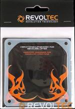 Силиконовая шумоизоляция Revoltec для вентилятора 80x80 мм
