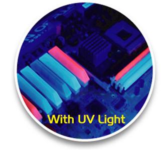 Комплект синих флуоресцентных заглушек для PCI RAM слотов 8шт светящихся в у ф