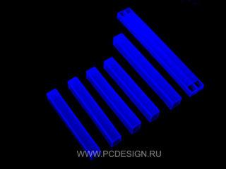 Комплект  синих флуоресцентных заглушек от PCdesign