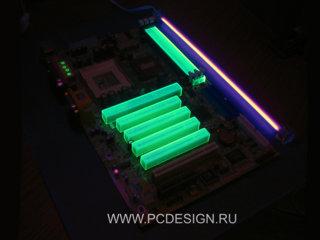 Комплект зеленых флуоресцентных заглушек от PCdesign