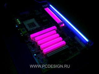 Комплект розовых флуоресцентных заглушек от PCdesign