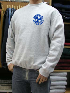 Толстовка серая  с логотипом modding ru  размер XL