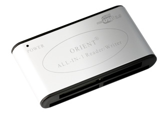 Картридер USB внешний серебристый ORIENT CR ALL IN 1 mini silver