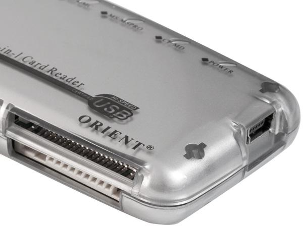 Картридер внешний USB2 0 ORIENT CR ALL 03 серебристый