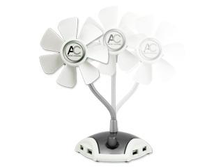 USB Вентилятор настольный ARCTIC Breeze Pro с USB хабом на 4 порта
