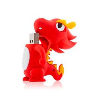 Флешка дракон красный Bone Dragon Driver USB