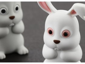Флешка подарочная Bone Rabbit Driver 4 ГБ серый кролик