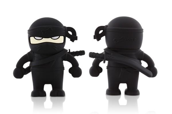 Флэшка подарочная Bone Ninja Driver 4 ГБ черный ниндзя