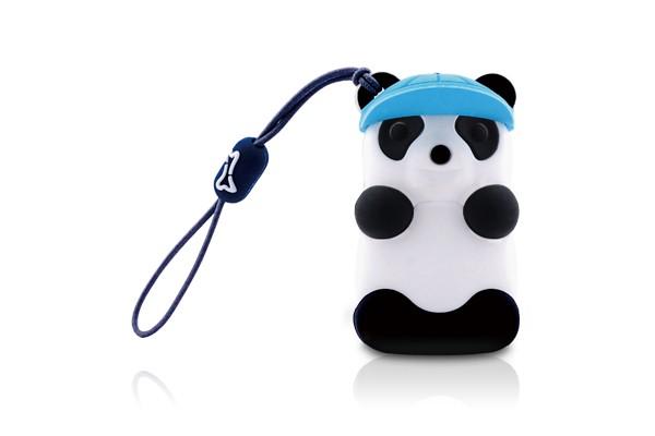 Флэшка подарочная Bone Panda Driver 4 ГБ панда в голубой бейсболке