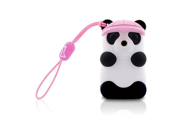 Флешка панда в розовой бейсболке Bone Panda Driver 4 ГБ