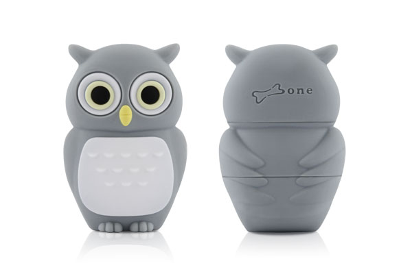 Флэшка подарочная Bone Owl Driver 8 ГБ серый совенок