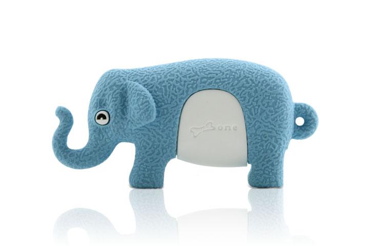 Флэшка подарочная Bone Elephant Driver 2 ГБ голубой слоник
