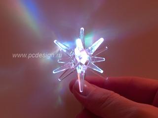 USB Гирлянда Снежные Кристаллы 310E с разноцветной подсветкой