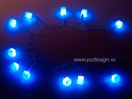 USB Гирлянда Ледяные Кубики NY 5075 с 7 цветной подсветкой