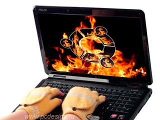 Перчатки с подогревом  USB  оранжевые