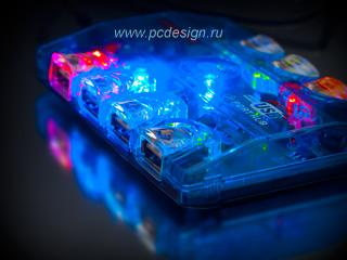 USB хаб светоманский с внешним питанием на 7 портов USB 2 0