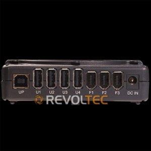 Концентратор REVOLTEC COMBO HUB  USB IEEE1349 HUB